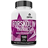 EBYSU Forskolin Extract - 500mg Max Strength - 90 Capsules Weight Loss