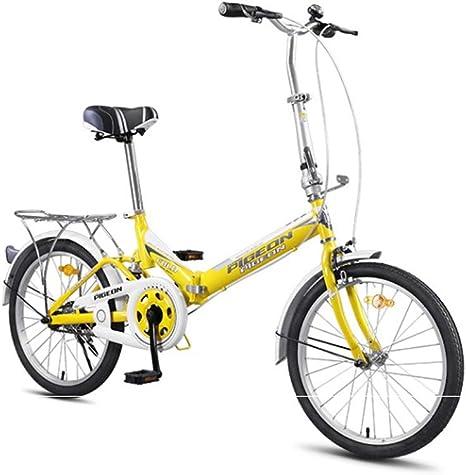Xiaoping Niños de Bicicletas 20 Pulgadas de Bicicletas, Adecuado for los niños con una Altura de 55-72 Pulgadas - (Amarillo, Rojo) (Color : 1, Size : 20in): Amazon.es: Deportes y aire libre