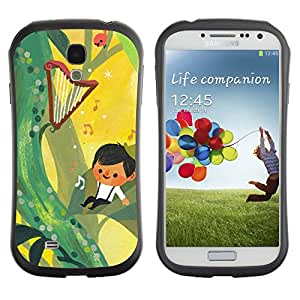 Paccase / Suave TPU GEL Caso Carcasa de Protección Funda para - Fairytale Yellow Music Boy Mother Mom - Samsung Galaxy S4 I9500
