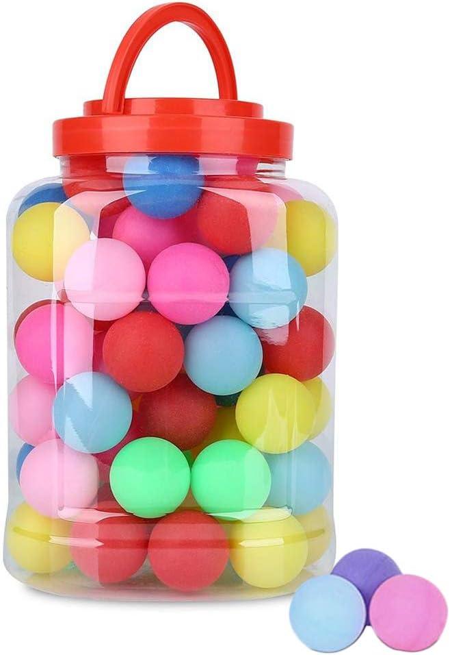 Urisgo - 60 Pelotas de Ping Pong de Color Cerveza, Pelotas de Tenis de Mesa, plástico, para Caramelos, Carnaval, Juegos, Manualidades, Gatos, Perros, Juguete