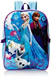 Disney Girl's Frozen Backpack with Lunch Kit, Blue, One Size