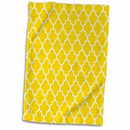 3dRose Yellow Quatrefoil Pattern-Contemporary Moroccan Tiles