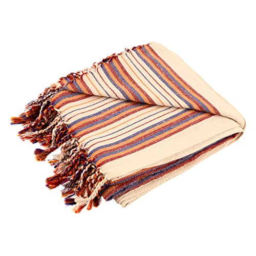 Turkish Towel, Large, 39x78inch, Genuine Handwoven Artisan Hamam Peshtemal, Lightweight and Quick Drying - Great for the Beach, Yoga, Travel or as a Bath Towel, 100% Cotton, New Collection - Collection Havana