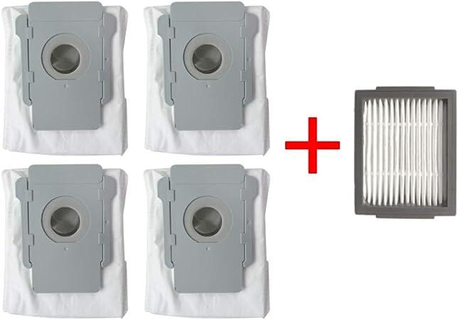 Ewendy - Juego de 4 bolsas de repuesto para iRobot Roomba I7, base limpia, robot de limpieza automática, eliminación de suciedad, bolsa de filtro para iRobot Roomba I7 I7 + / I7