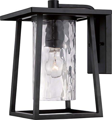 Quoizel LDG8409K Lodge Farmhouse Outdoor Lantern Wall Sconce, 1-Light, 100 Watts, Mystic Black 13 H x 10 W