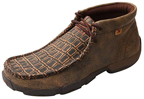 Twisted X Men's Caiman Print Driving Mocs Moc Toe Brown 10.5 -