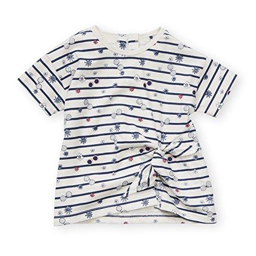Jessica Simpson Girl's Short Sleeve Crewneck Striped T-Shirt With Mock Tie Front Sunglass Stripe 6X