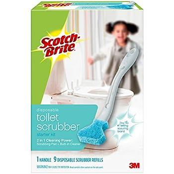 Amazon Com Scotch Brite 557 R7 Disposable Toilet Scrubber