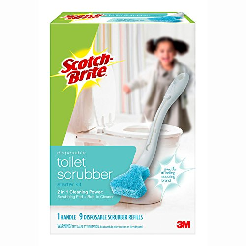 Scotch-Brite Disposable Toilet Cleaner Starter Kit, 1 Handle, 7 Refills