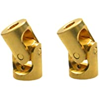 xunji ajie 2pcs 3 x 3 mm Oro Metal Flexible hembra onda hembra Mini articulado de