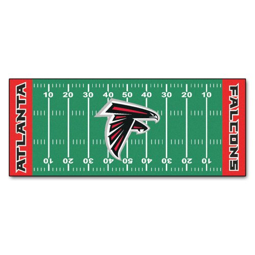 FANMATS NFL Atlanta Falcons Nylon Face Football Field Runner ()