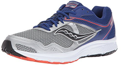 Saucony Men's Cohesion 10 Running Shoe, Silver Blue, 8 M US