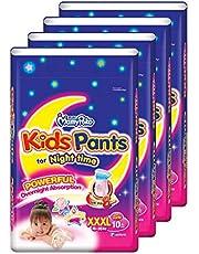 MamyPoko Kids Pants Girl, XXXL, 10 Count, (Pack of 4)