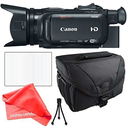 Canon XA30 Camcorder + Camera Case, Table Top Tripod, lens cleaning kit and Lcd Screen Protector by DIGITALUNIVERSE