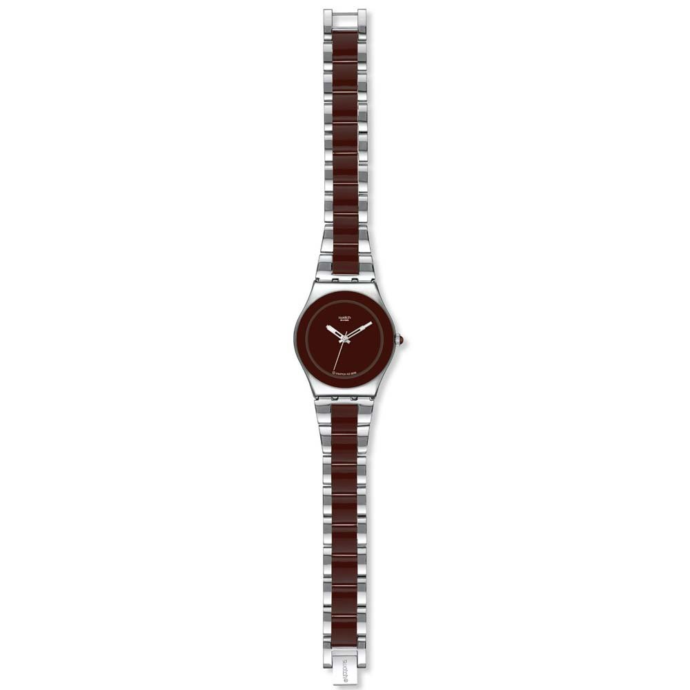 Amazon.com: Swatch Irony Brown Ceramic Chocolate Dial Womens watch #YLS163G: Swatch: Watches