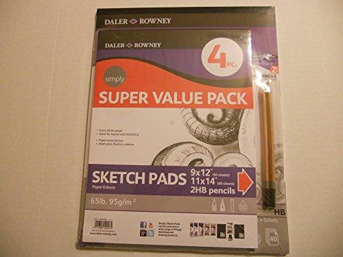 Super Value Pack Sketch Pads & HB Pencils