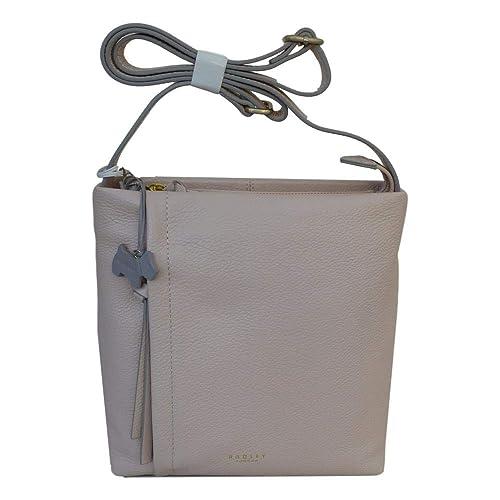 Radley Medium Leather Ziptop Acrossbody Bag  Upton  in Pale Pink RRP £179.00   Amazon.co.uk  Shoes   Bags 38b5b80dca