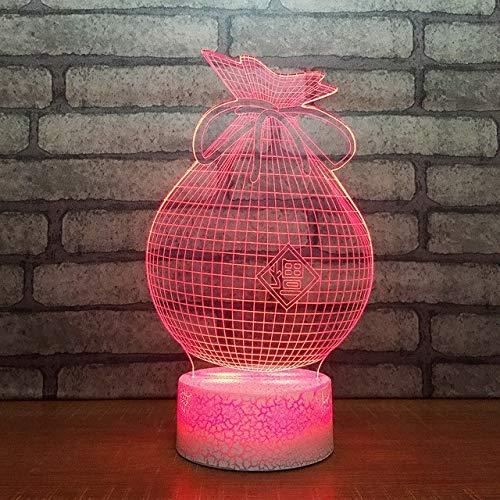 3D 7 Color Change Night Light Led Table Lamp USB Bedroom Bedside Decoration Money Purse Bag Modelling Baby Sleep Lighting Gifts