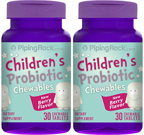 Chewable Probiotic for Kids 2 Bottles x 30 Chewable Tablets (3 Billion Organisms)