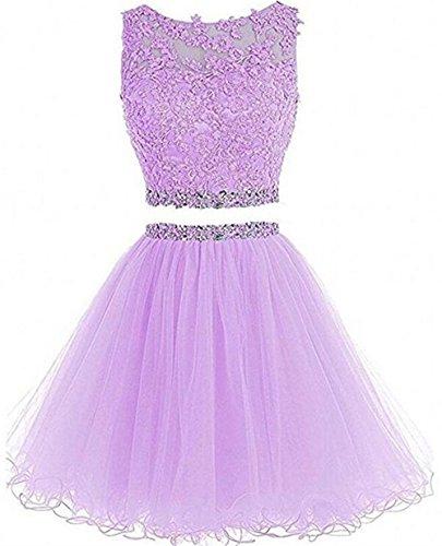 2 Piece Lavender Dress - Dydsz Prom Homecoming Dresses Short for Juniors 2 Piece 2019 Women Party Dress Cocktail Gown D127 Lavender 2