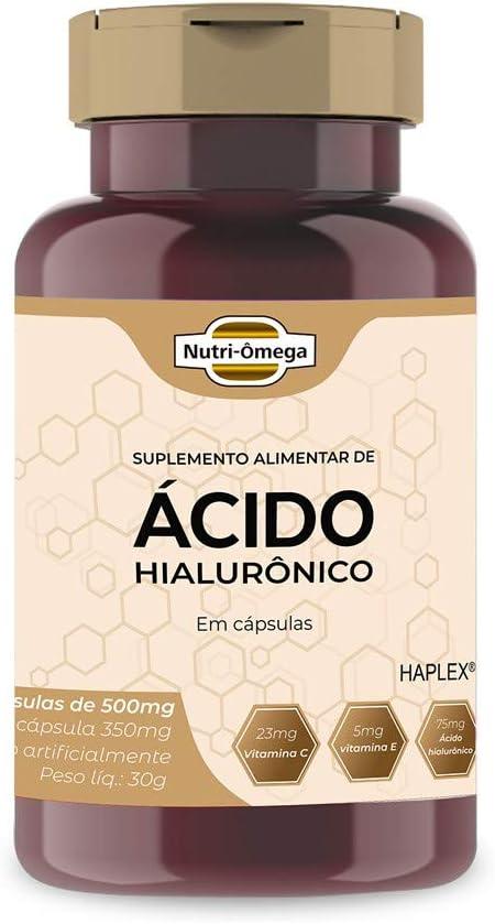 Ácido Hialurônico 75mg com Vitaminas, Rende 02 Meses. por Nutri-ômega