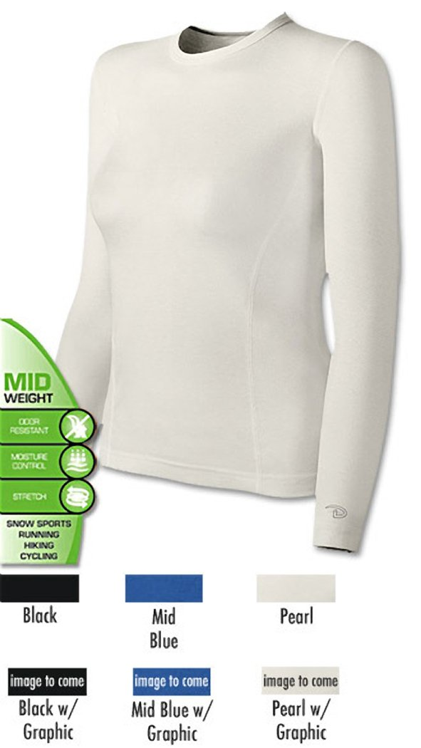 Duofold Women's Mid Weight Varitherm Thermal Shirt, Peal With Spot Print, Small