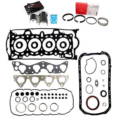 Gasket Sohc Kit Full (SOHC RE-RING KIT FULL GASKETS BEARINGS & RINGS compatible with 1996-2000 HONDA CIVIC DELSOL 1.6L D16Y5 D16Y7 D16Y8)
