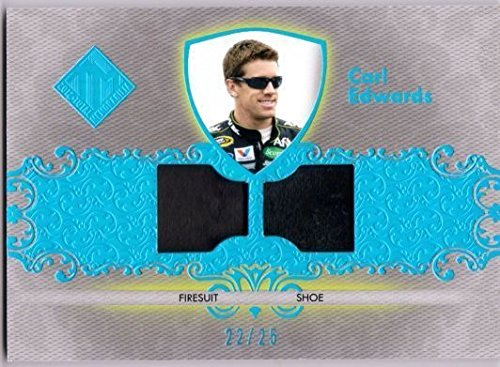 Used, CARL EDWARDS 2012 Total Memorabilia Dual Swatch Holofoil for sale  Delivered anywhere in USA