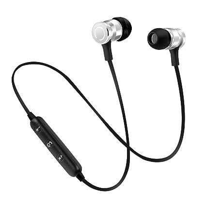 Gazechimp Auriculares Intra-auriculares Inalámbricos Deportivos Bluetooth Con Micrófono Para Móviles Multiusos - Plata