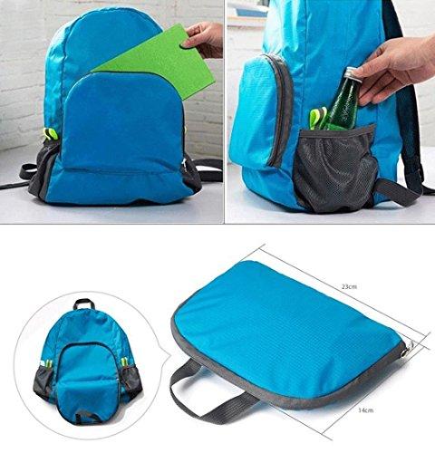Imprägniern Sie im Freien superleichte faltende Rucksack Bergsteigen Reise Tasche, die heiß ist Schwarz