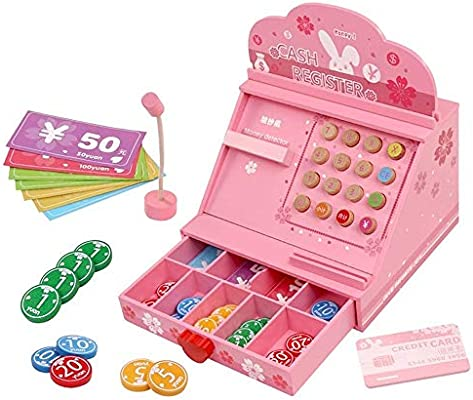 SZNWJ Juguetes Talking Toy Caja registradora Tienda Aprendizaje Juego Set Paging micrófono Tarjeta de crédito Tarjeta bancaria y Dinero ficticio: Amazon.es: Hogar