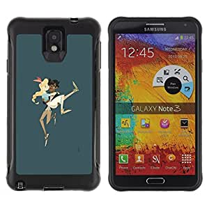 Suave TPU GEL Carcasa Funda Silicona Blando Estuche Caso de protección (para) Samsung Note 3 / CECELL Phone case / / Boy Carrying Girl Couple Love Running Art /