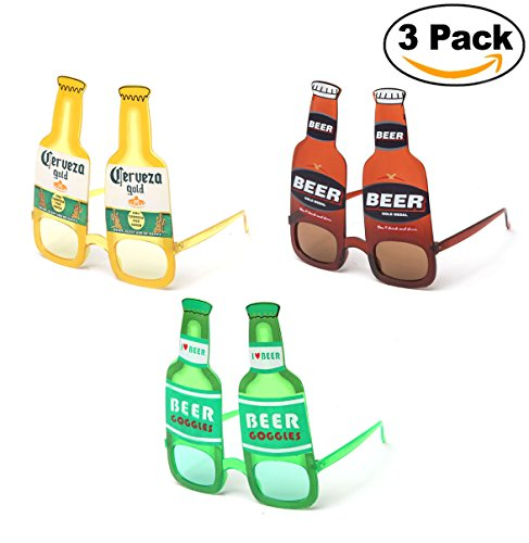 Kyra Party Props Beer 21+ Adult Fun Sunglasses Goggles Drink Music Festival - Sunglasses Beer