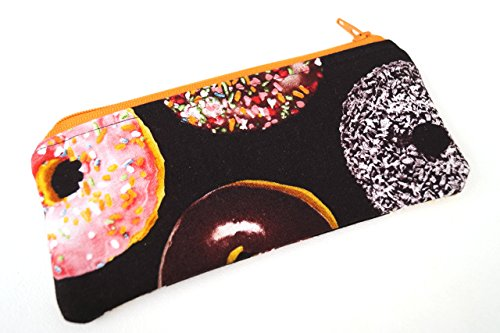 - Donut Padded Glasses Case or Small Cosmetic Pouch