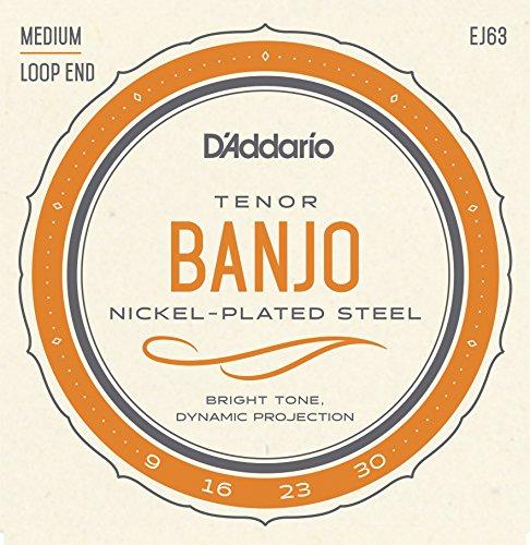 D'Addario EJ63 Nickel Tenor Banjo Strings, 9-30 (Tenor Strings Banjo)