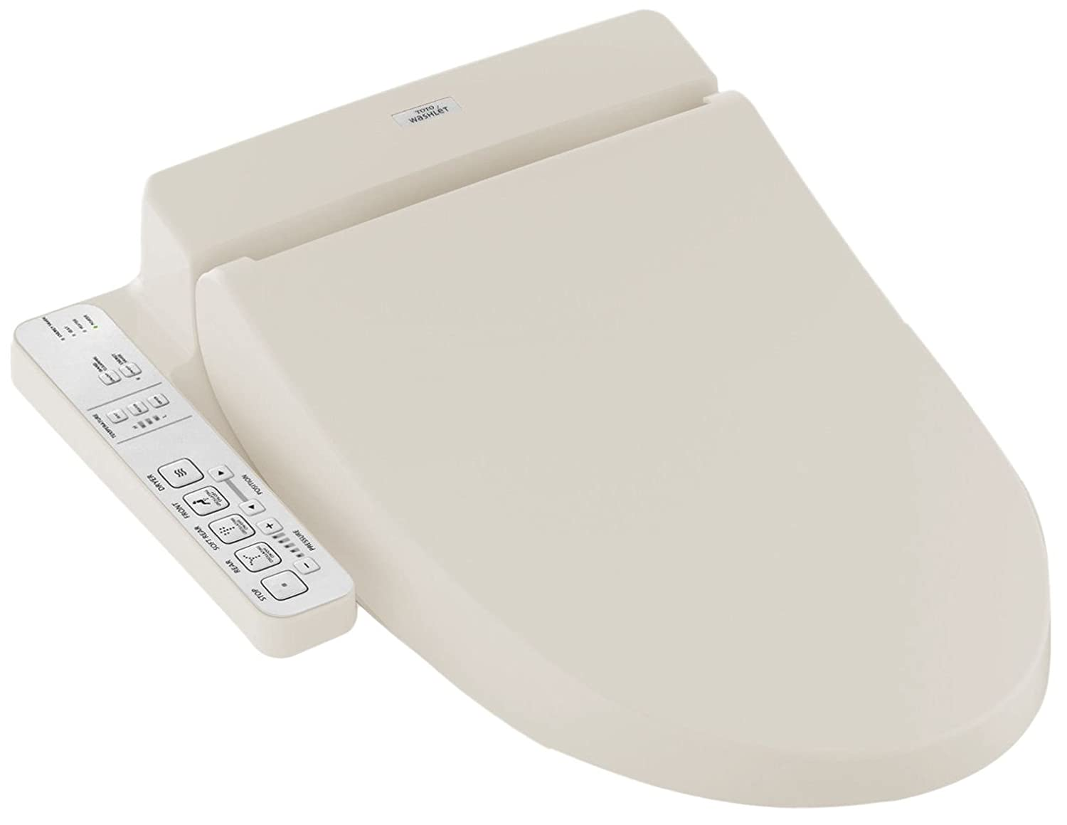 TOTO Washlet C100 Elongated Bidet Toilet Seat with PreMist, Sedona ...