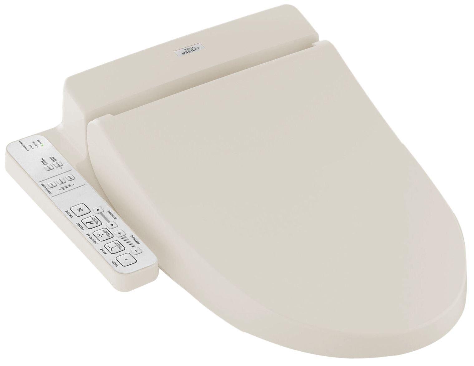 TOTO SW2034#12 C100 WASHLET  Electronic Bidet Toilet Seat with PreMist, Elongated, Sedona Beige