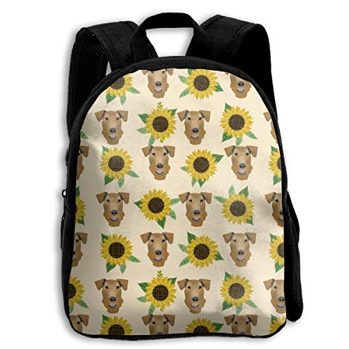 The Children's Airedale Floral Sunflowers Cute Dog Backpack