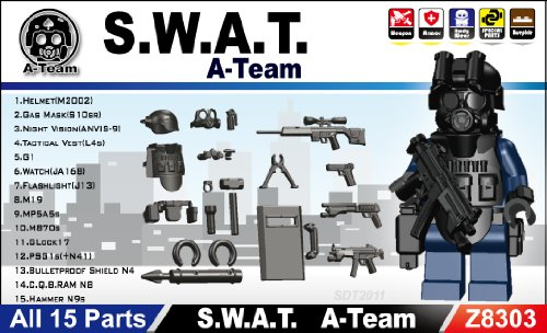 Amazon.com: SWAT Team Minifigure Gear Pack, Black: Toys & Games