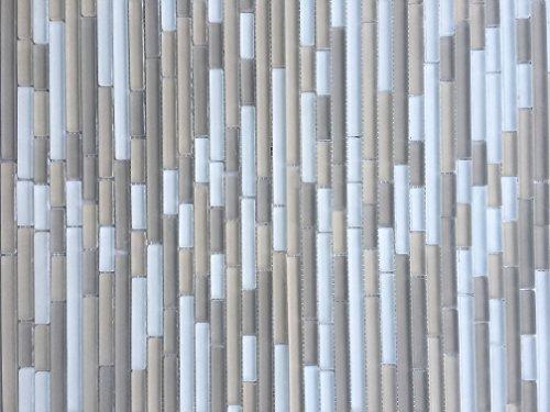 Santa Nova Blend Frosted Finish Matchstick Glass Mosaic Tile Backsplashes