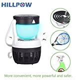 HILLPOW LED Mosquito Killer Lamp Insect Repellent Bug Fly Zapper Trap Pest Control USB LED Night Light Portable Hook Tent Camping Hiking Fishing Lantern Home Outdoor Garden Patio Yard (Black Light)