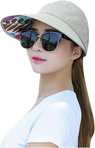 Rebecca Women Men Sun Visors Sweatband Anti-UV Hologram Wide Brim Outdoor Sports Beach Sun Hat