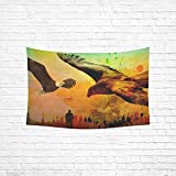 ENEVOTX Tapestry Dirty Dirt Spot Adler Fly Sail City Skyline Man Hippie Tapestries Wall Hanging Flower Tapestry Wall Hanging Dorm Decor For Living Room Bedroom 60 X 40 Inch