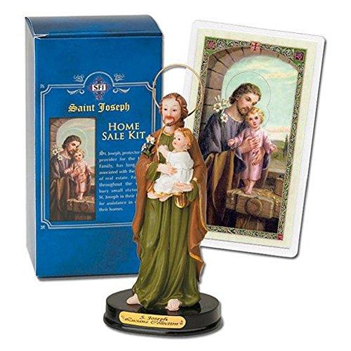 Joseph Home Seller Kit (St Joseph Home Statue Seller Kit Laminated Holy Card & Legend of Saint Joseph)
