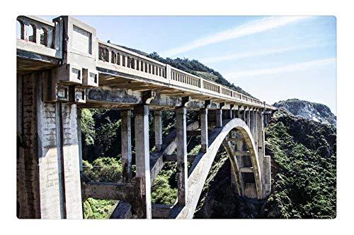 (Tree26 Indoor Floor Rug/Mat (23.6 x 15.7 Inch) - Bridge Concrete Arch Gorge Structure Construction)