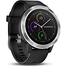 Garmin Vivoactive 3 Smartwatch, Black & Stainless, 010-01769-00