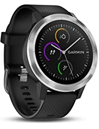 Garmin Vivoactive 3 Smartwatch, Black & Stainless, 010-01769-00