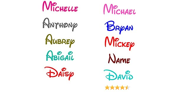 Sparkly Princess Personalised Sticker Name Text Lettering Vinyl Decal Adhesiv