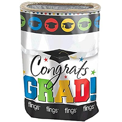 amscan Grad Flings Bin | Party Favor: Toys & Games