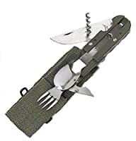 Joy Enterprises FP44481 Fury European Forces Mess Utensils, Olive Drab with Tactical Case